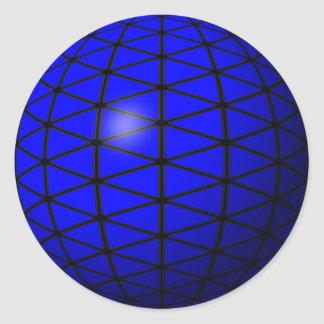 pegatina azul de la esfera del triángulo
