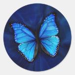 Pegatina azul de la mariposa