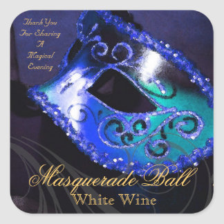 Pegatina azul de la mascarada de la tarde mágica