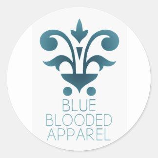 Pegatina azul de la ropa de Blooded
