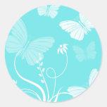 Pegatina azul de las mariposas