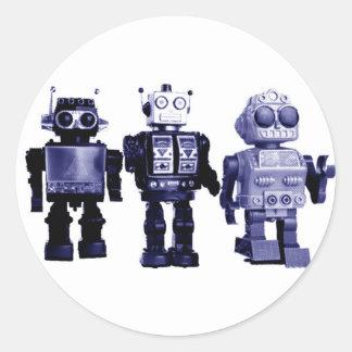 pegatina azul de los robots
