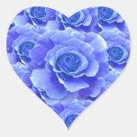 Pegatina azul de los rosas
