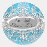 Pegatina azul de princesa Winter Wonderland Sweet