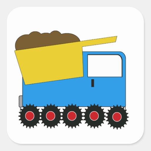 Pegatina azul del camión volquete del KRW
