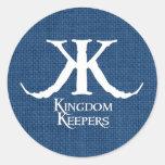 Pegatina azul del círculo de los encargados del re