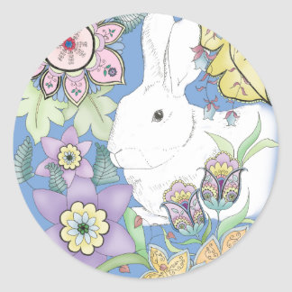 Pegatina azul del conejo