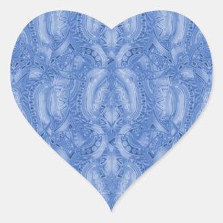 Pegatina azul del corazón de Bebopo