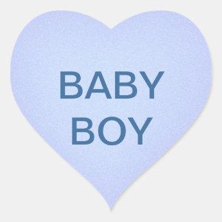 Pegatina azul del corazón del bebé
