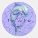 Pegatina azul del delfín