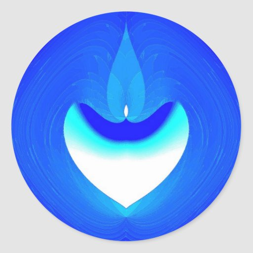 Pegatina azul del deseo