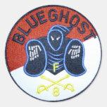 Pegatina azul del remiendo del fantasma