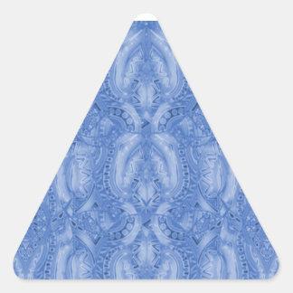 Pegatina azul del triángulo de Bebopo