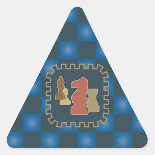 Pegatina azul del triángulo de los pedazos de