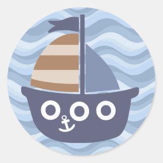 Pegatina azul del velero