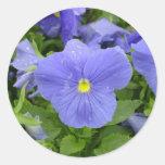 Pegatina azul/púrpura del pensamiento