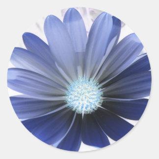 Pegatina azul que brilla intensamente de la