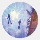 Pegatina azul romántico