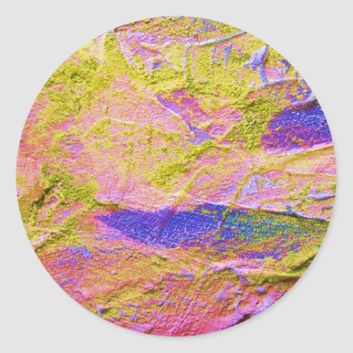 Pegatina azul rosado amarillo del agolpamiento -