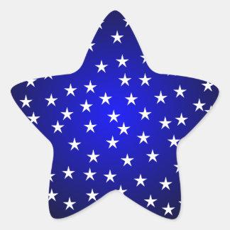 Pegatina azul y blanco de medianoche de la