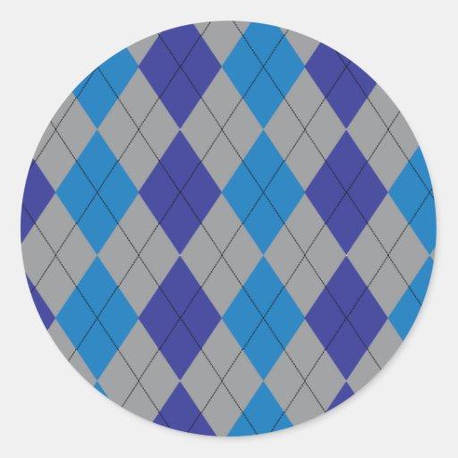 Pegatina azul y gris de Argyle