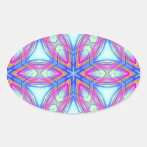 Pegatina azul y rosado del modelo colorido del
