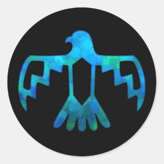 Pegatina azulverde de Thunderbird