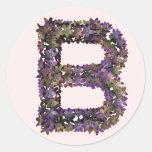 Pegatina B de la flor