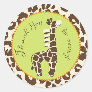 Pegatina B del muchacho TY del safari
