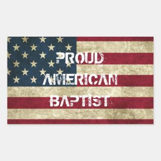 Pegatina baptista americano orgulloso