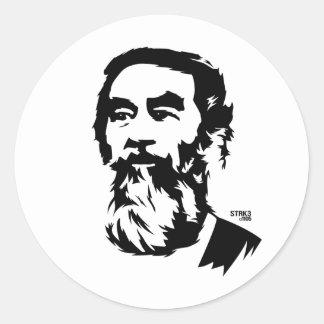 Pegatina barbudo del retrato de Saddam Hussein
