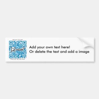 Pegatina básico del código de QR Etiqueta De Parachoque