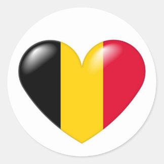 Pegatina belga del corazón - belge de Coeur