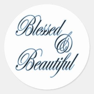 Pegatina bendecido y hermoso