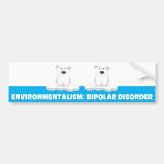 pegatina bipolar del bumber pegatina para auto