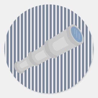 Pegatina blanco azul náutico de la raya y del