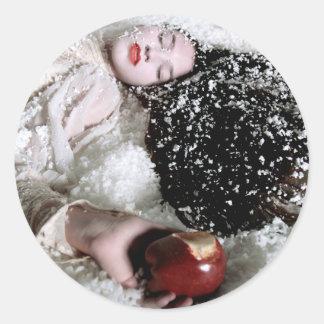 """Pegatina blanco como la nieve y de Apple """"del"""