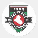 Pegatina blanco conmemorativo de los veteranos de
