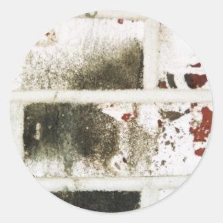 pegatina blanco de los ladrillos
