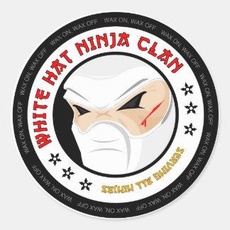 Pegatina blanco de Ninja del gorra