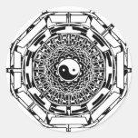 Pegatina (blanco) de Yin Yang de la mandala