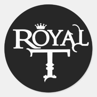 Pegatina (blanco) del logotipo de RoyalT