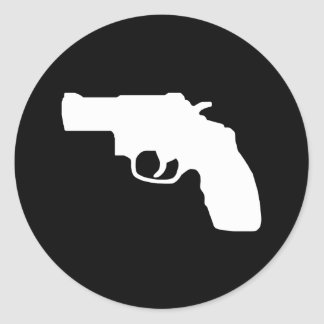 Pegatina blanco del revólver del desaire