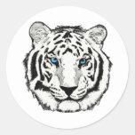 Pegatina blanco del tigre