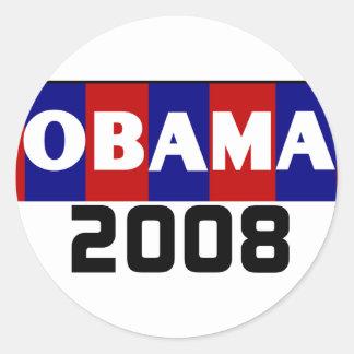 Pegatina blanco rojo del azul 08 de Obama