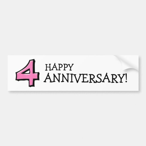 Pegatina blanco rosado del aniversario del número  pegatina de parachoque