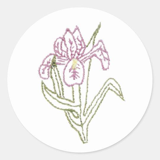 Pegatina bordado del iris