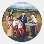 Pegatina: Bosch - piedra de la locura Pegatina Redonda
