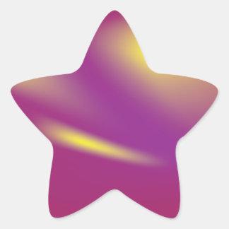 Pegatina brillante colorido de la estrella fugaz