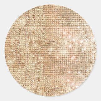 Pegatina brillante de las lentejuelas del oro